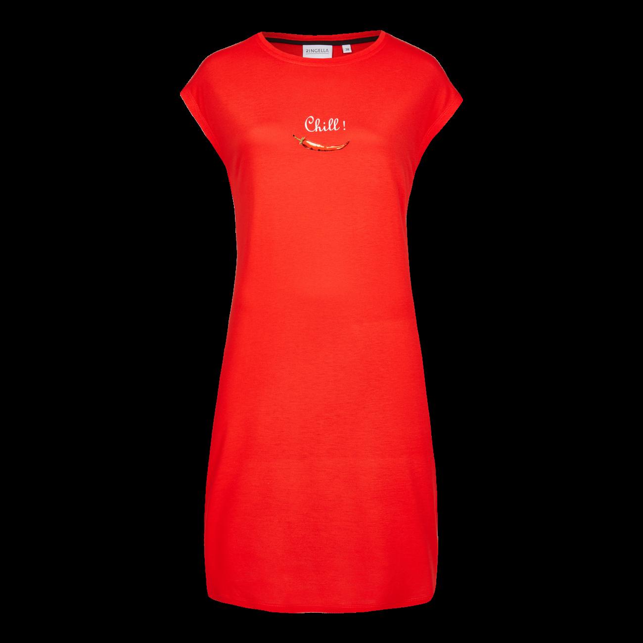 Nachthemd mit Motivdruck summer red | 46