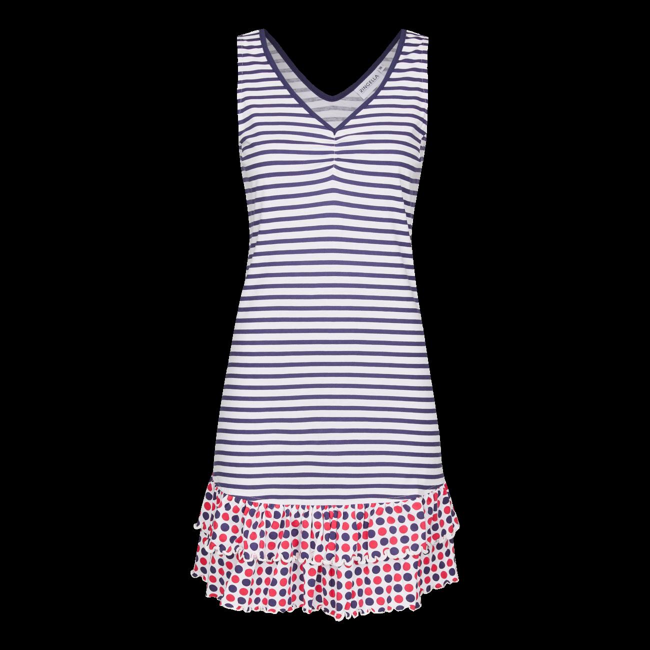 Kleid im Mustermix marine | 44