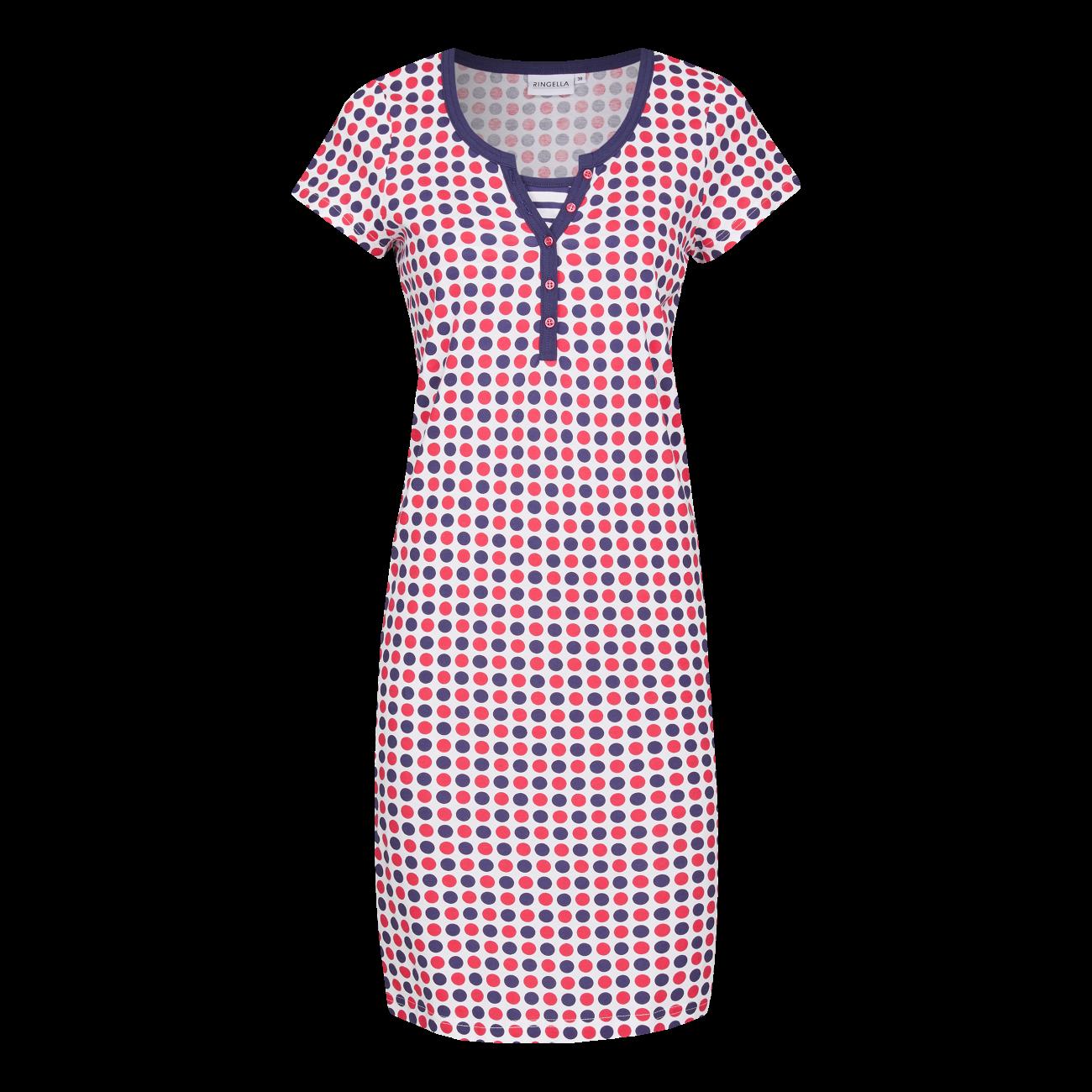 Nachthemd mit Knopfleiste marine | 46