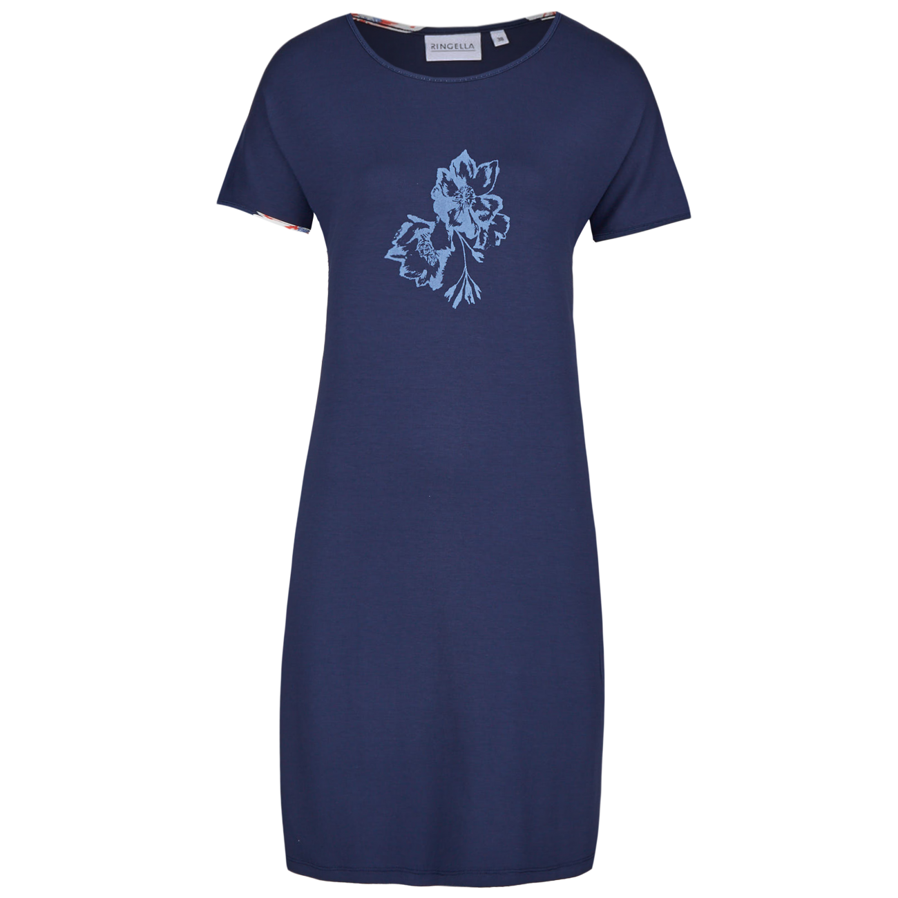 Nachthemd mit Motivdruck dark navy | 44