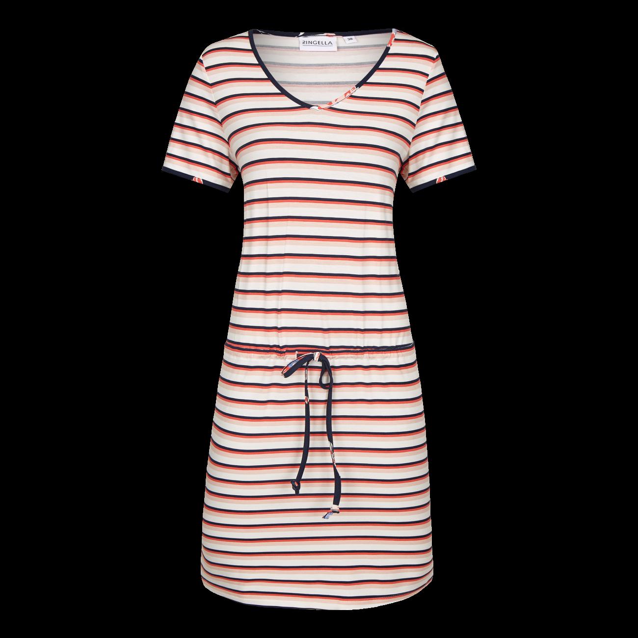 Kleid mit Tunnelzug und Bindeband cayenne | 36