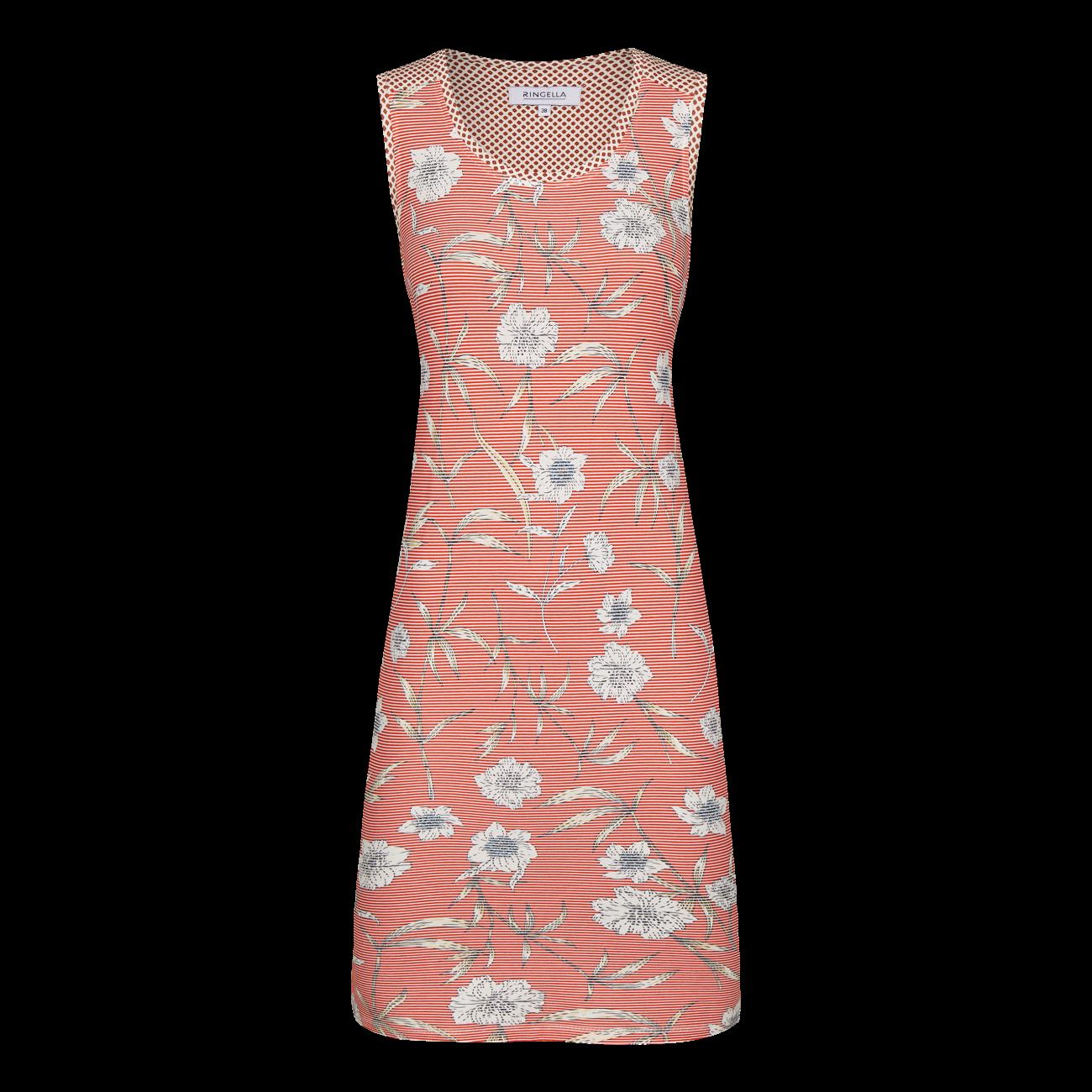 Nachthemd mit Blütendessin cayenne | 36