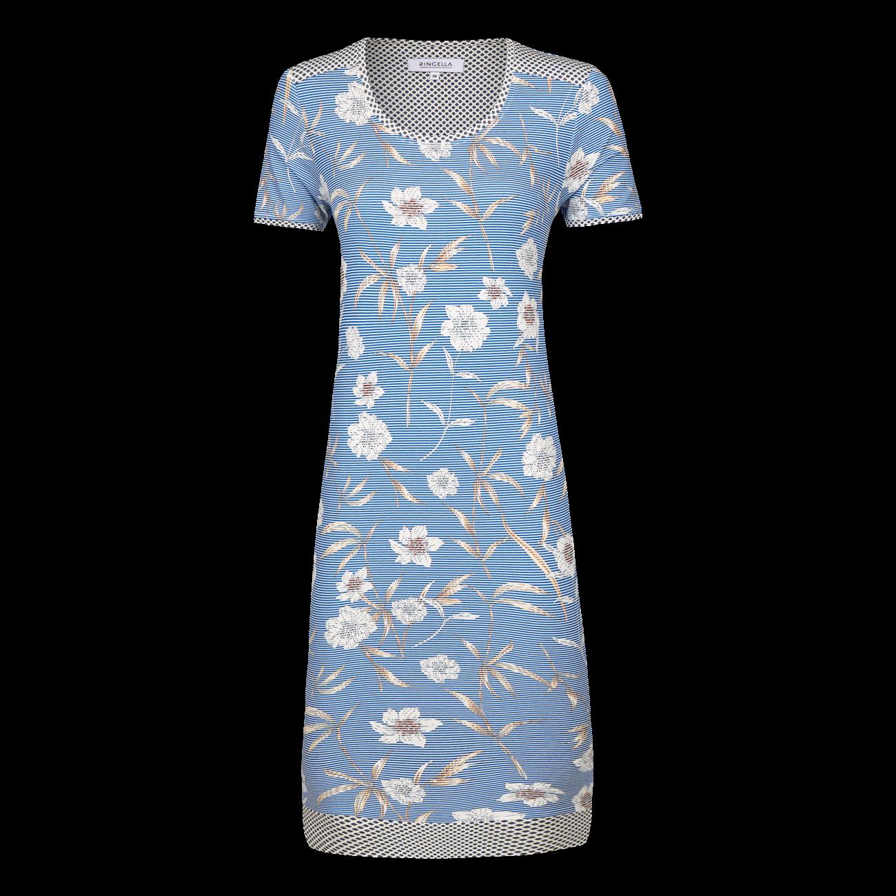 Nachthemd mit Blütendessin blue | 36