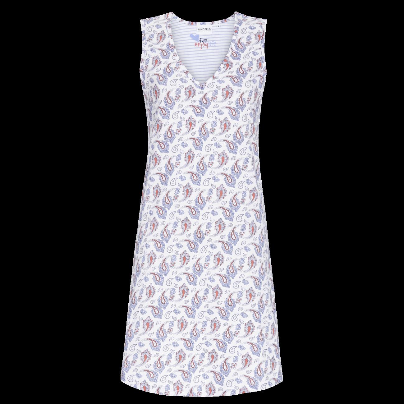 Nachthemd mit Paisley-Dessin ciel   36