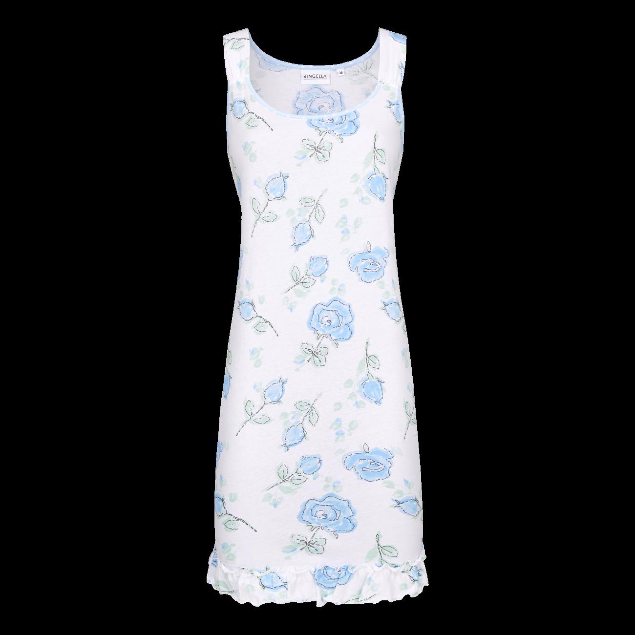 Nachthemd mit Rosendessin bleu | 38