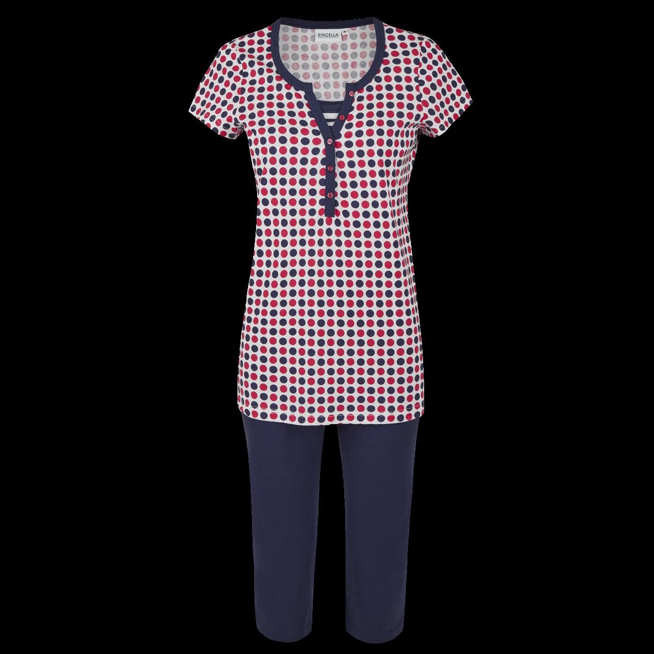 Pyjama mit Caprihose marine | 46