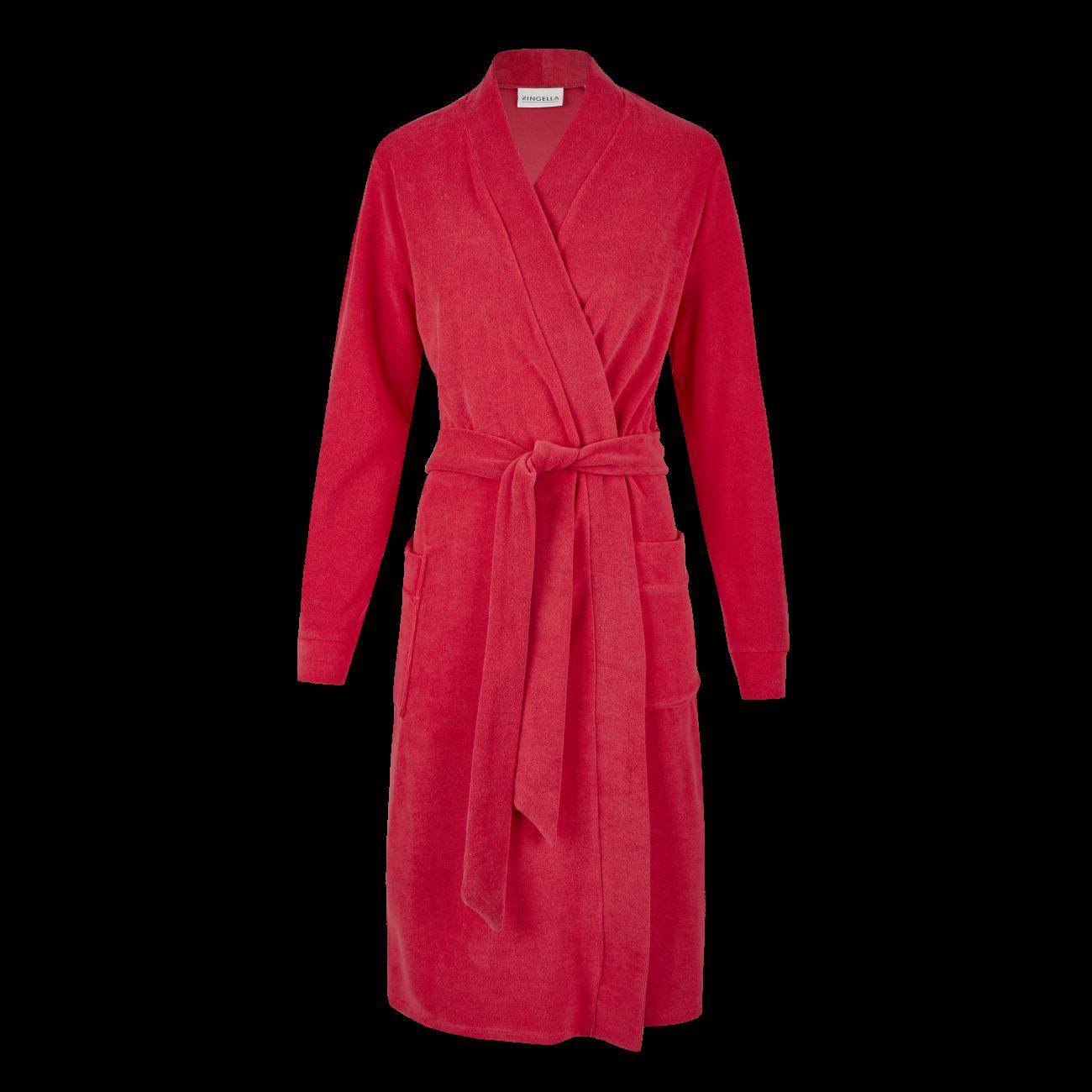 Mantel mit Bindegürtel kirsche | 40