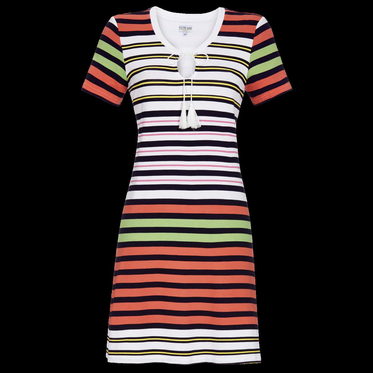 Kleid im Ringellook bunt | 36