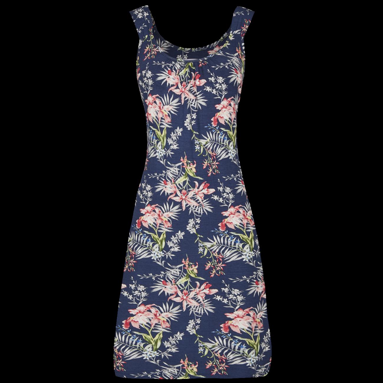 Kleid mit Kräuselung bunt   38