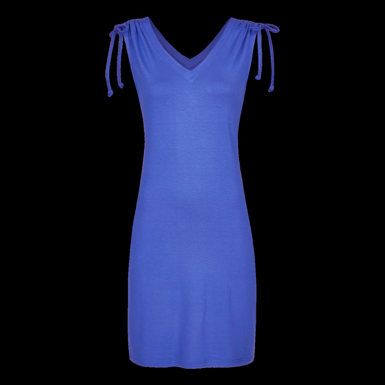 Kleid mit V-Ausschnitt blue   36
