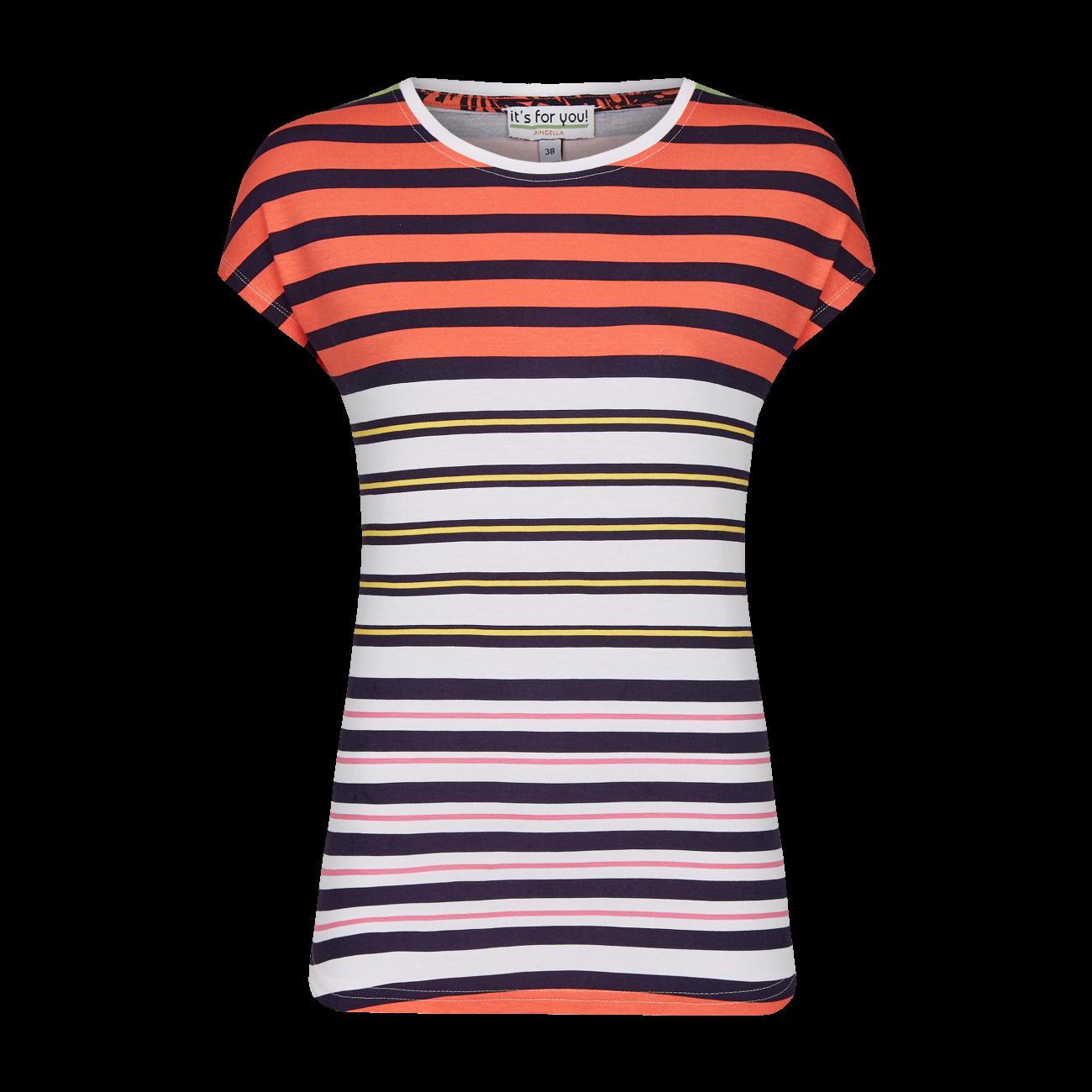 T-Shirt im Ringeldessin bunt | 38