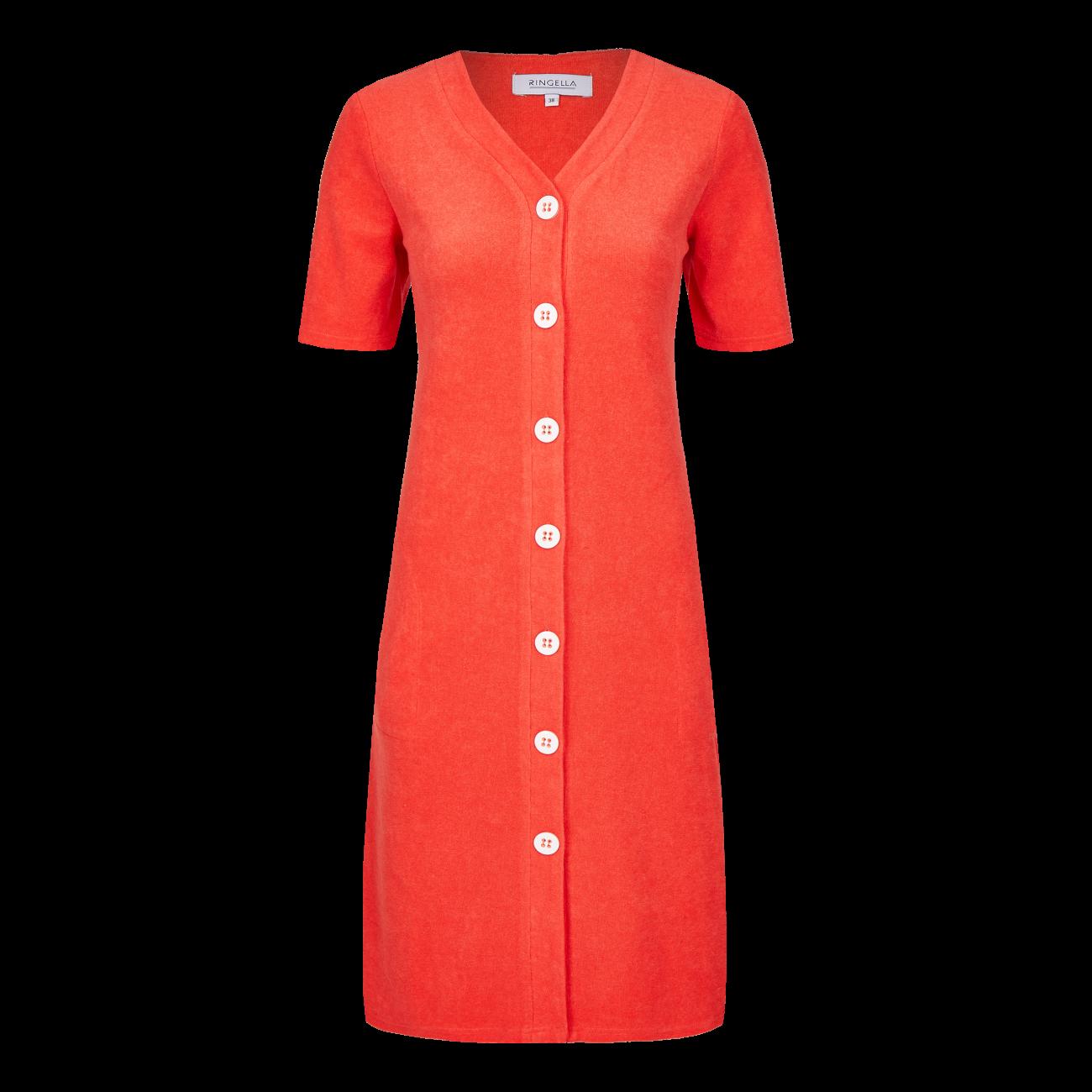 Kleid mit Knopfleiste cayenne | 36