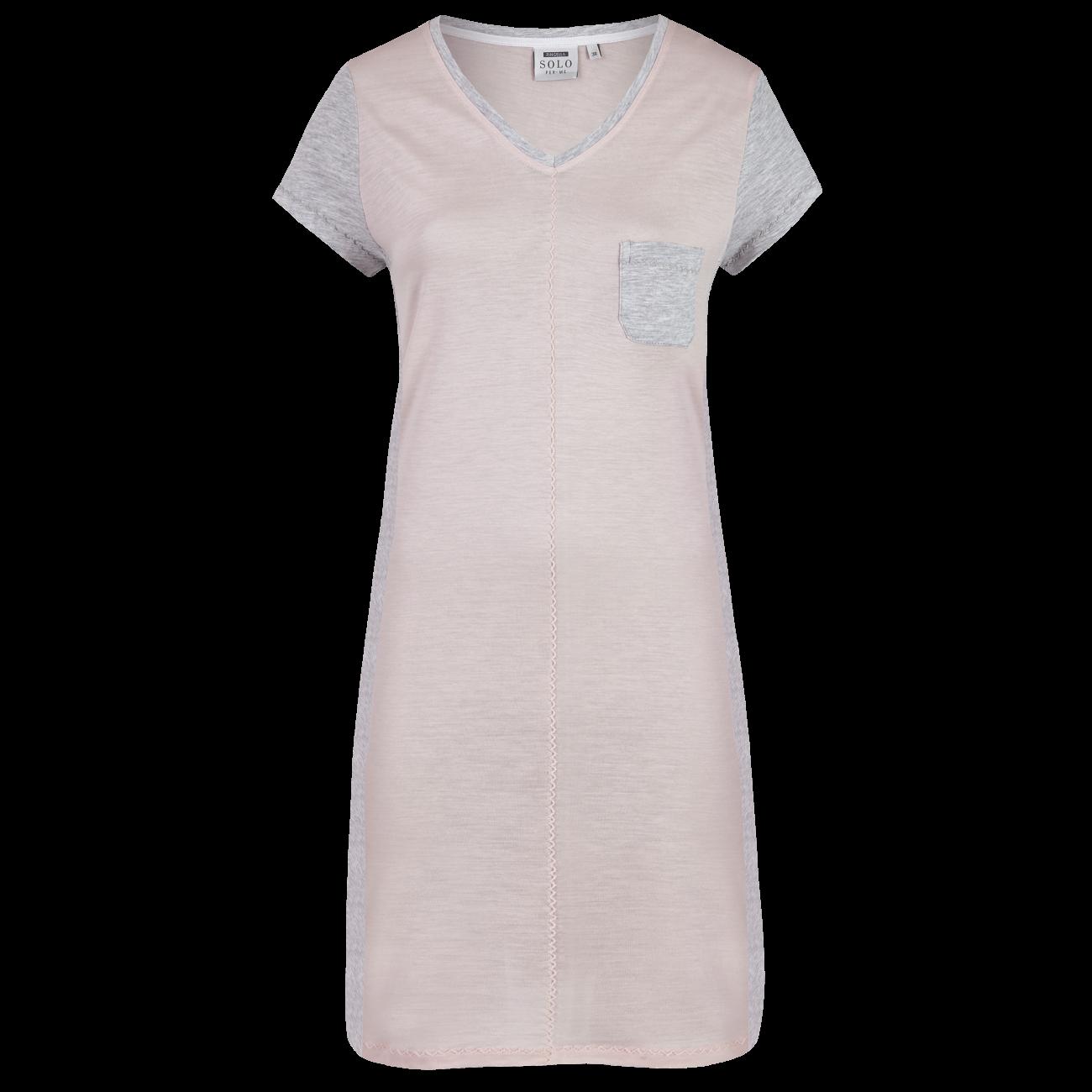 Nachthemd mit V-Ausschnitt rosa   40