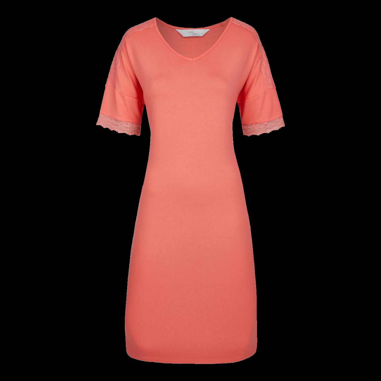 Nachthemd mit feiner Spitze peach | 38