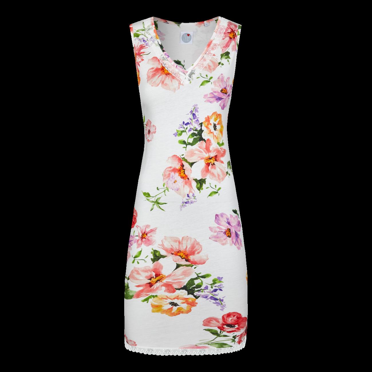 Nachthemd mit Blumendessin off-white | 44