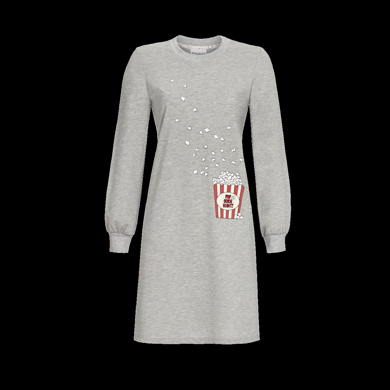 Nachthemd mit Motivdruck grau-melange | 38