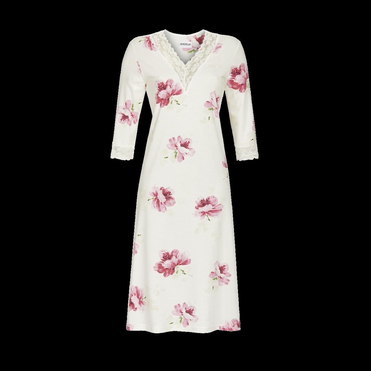 Nachthemd mit V-Ausschnitt off-white | 38