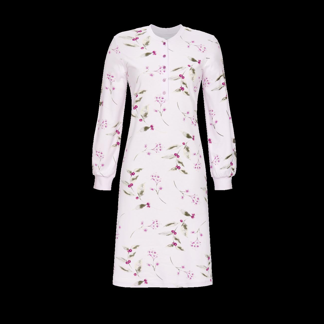 Nachthemd mit Knopfleiste orchidee | 52