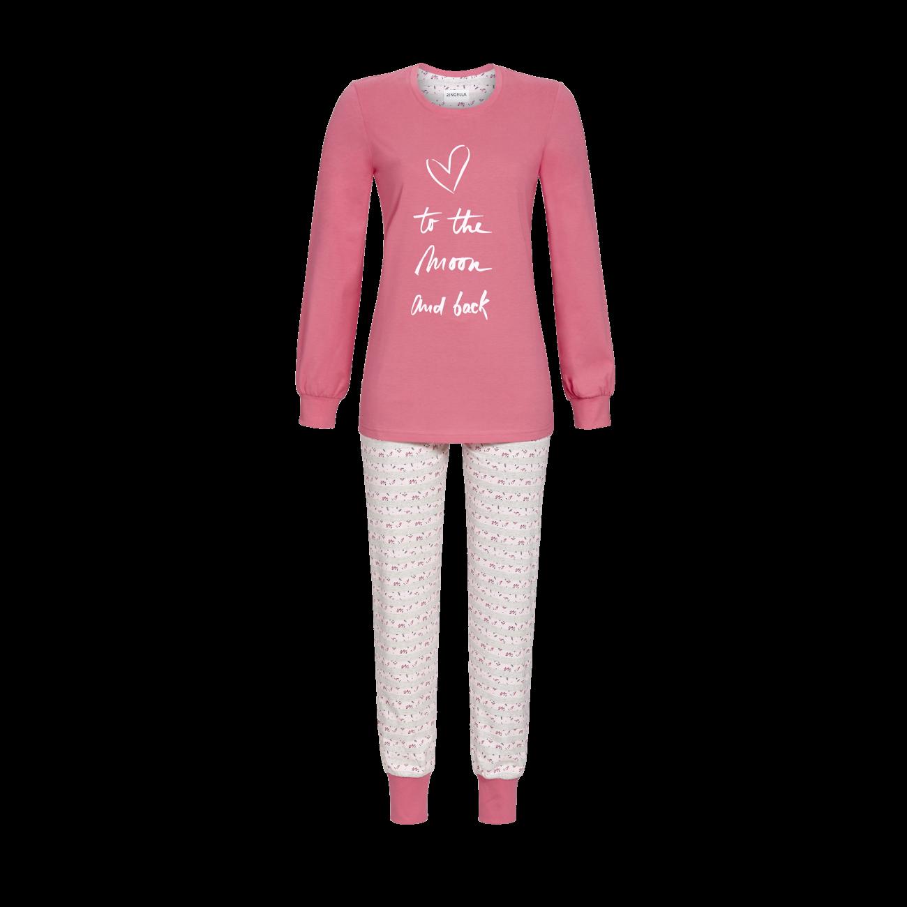 Pyjama mit Motivdruck hagebutte | 38