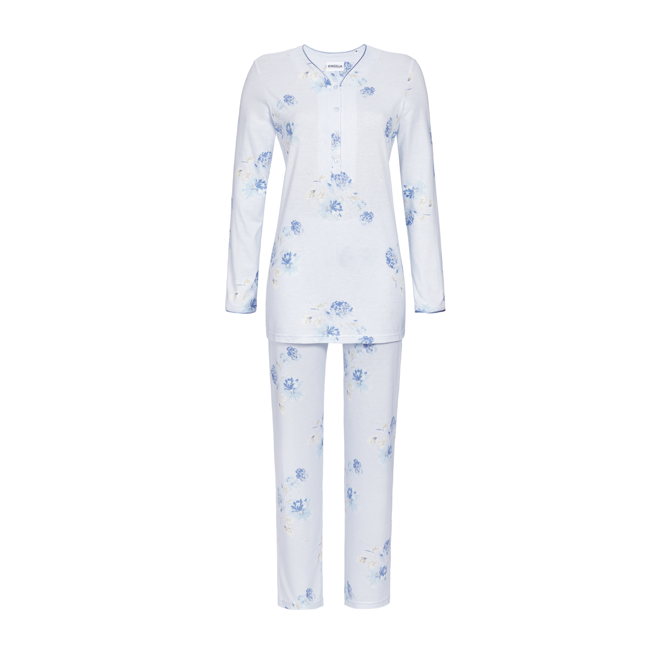 Pyjama mit Knopfleiste bleu | 54