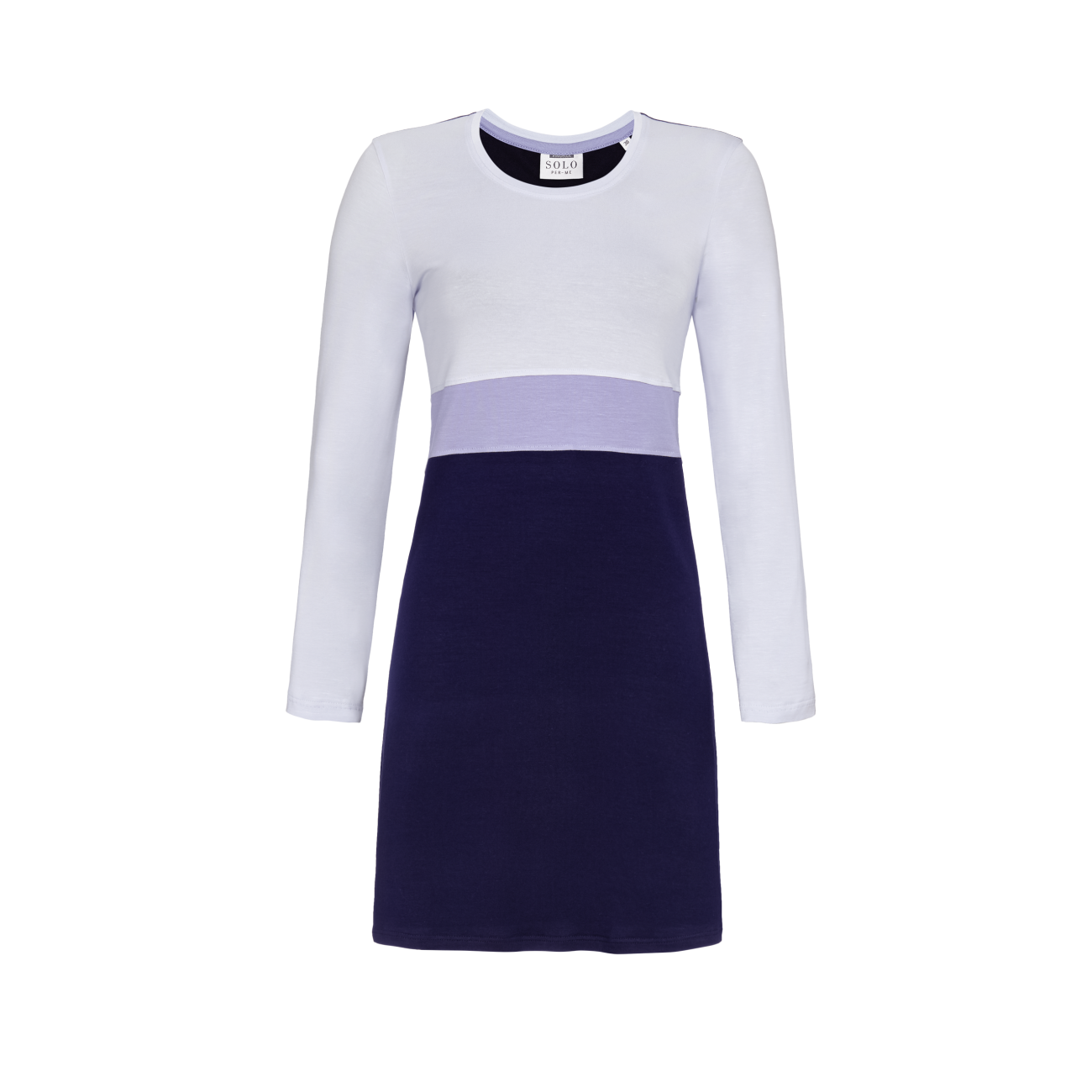 Nachthemd in Tricolor Layering pastell-bleu | 44