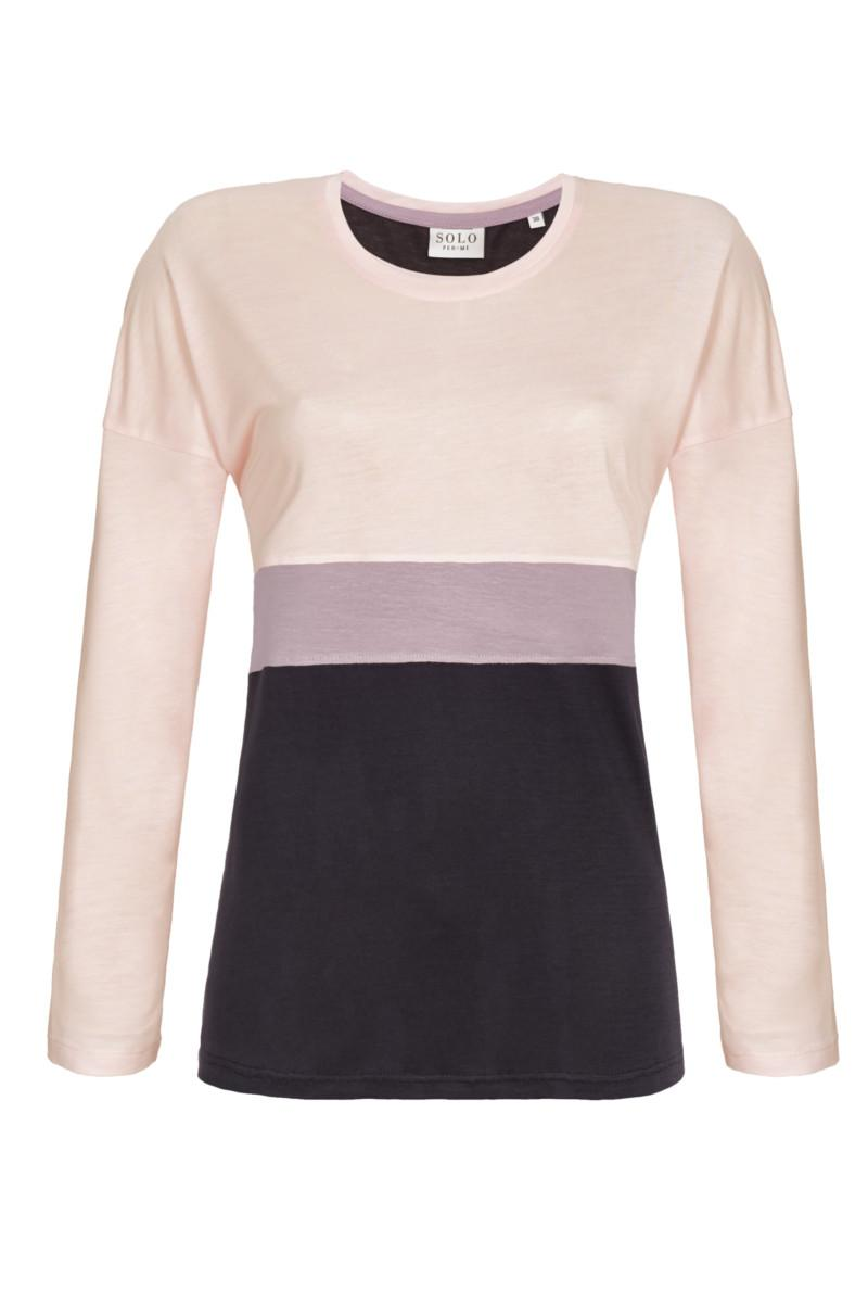 T-Shirt in Tricolor Layering