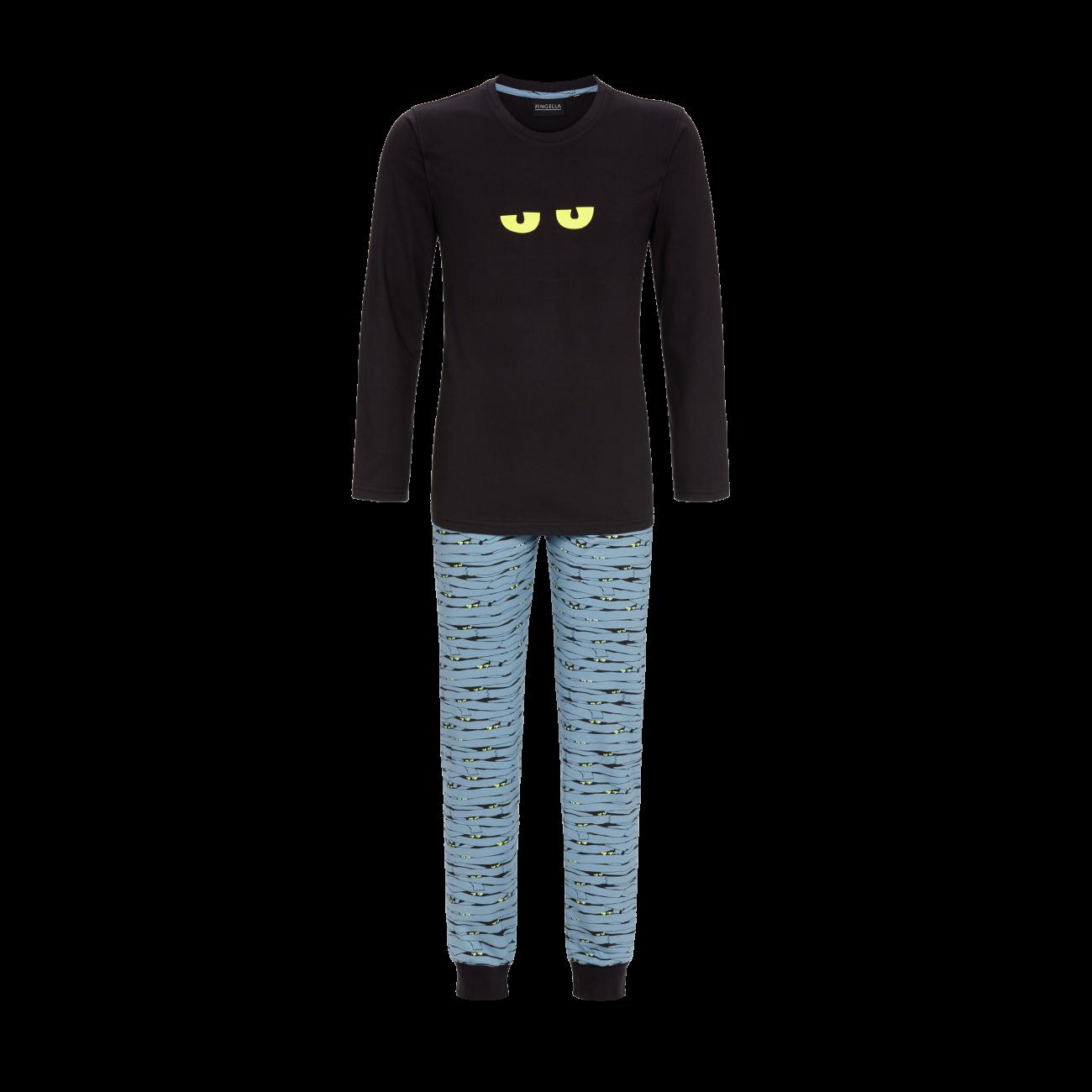 Pyjama mit Motivdruck schwarz   46