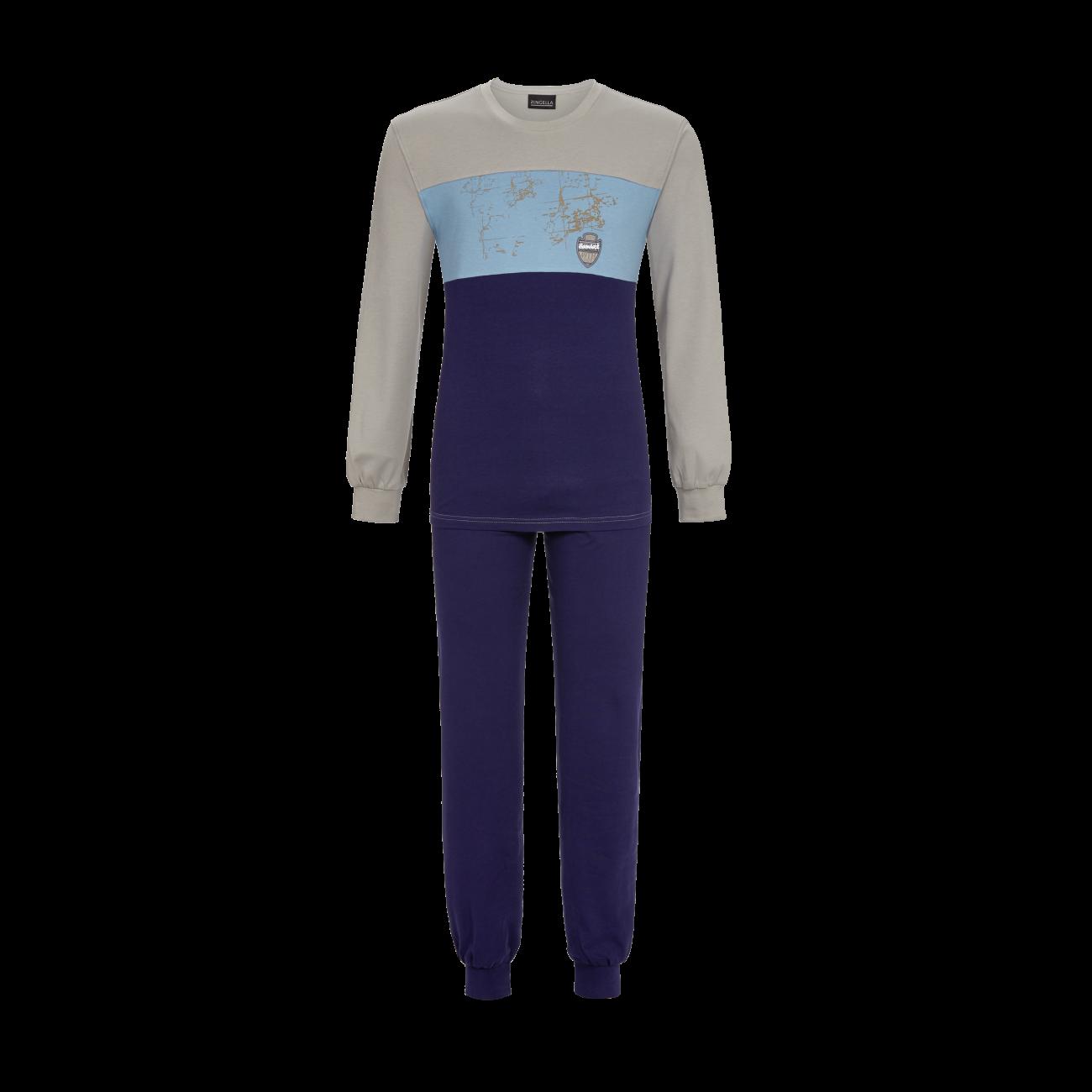 Pyjama mit Motivdruck leinen   46