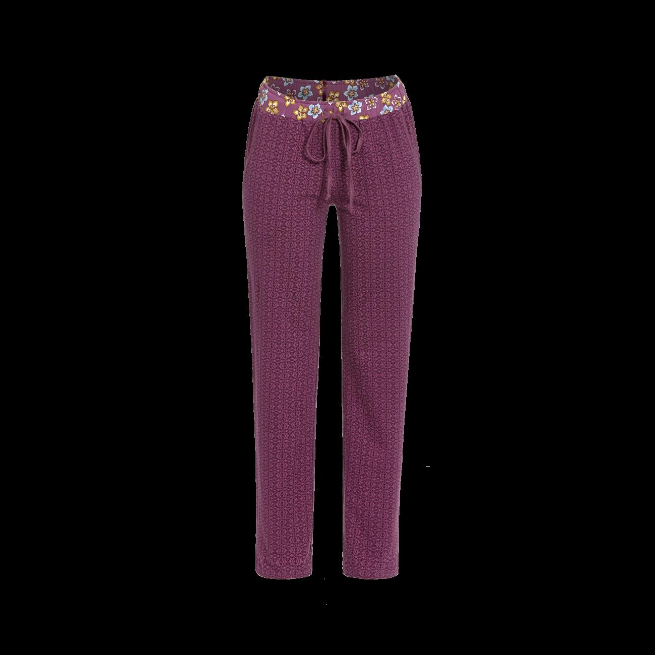 Lange Hose mit Minimaldessin rosenholz | 46