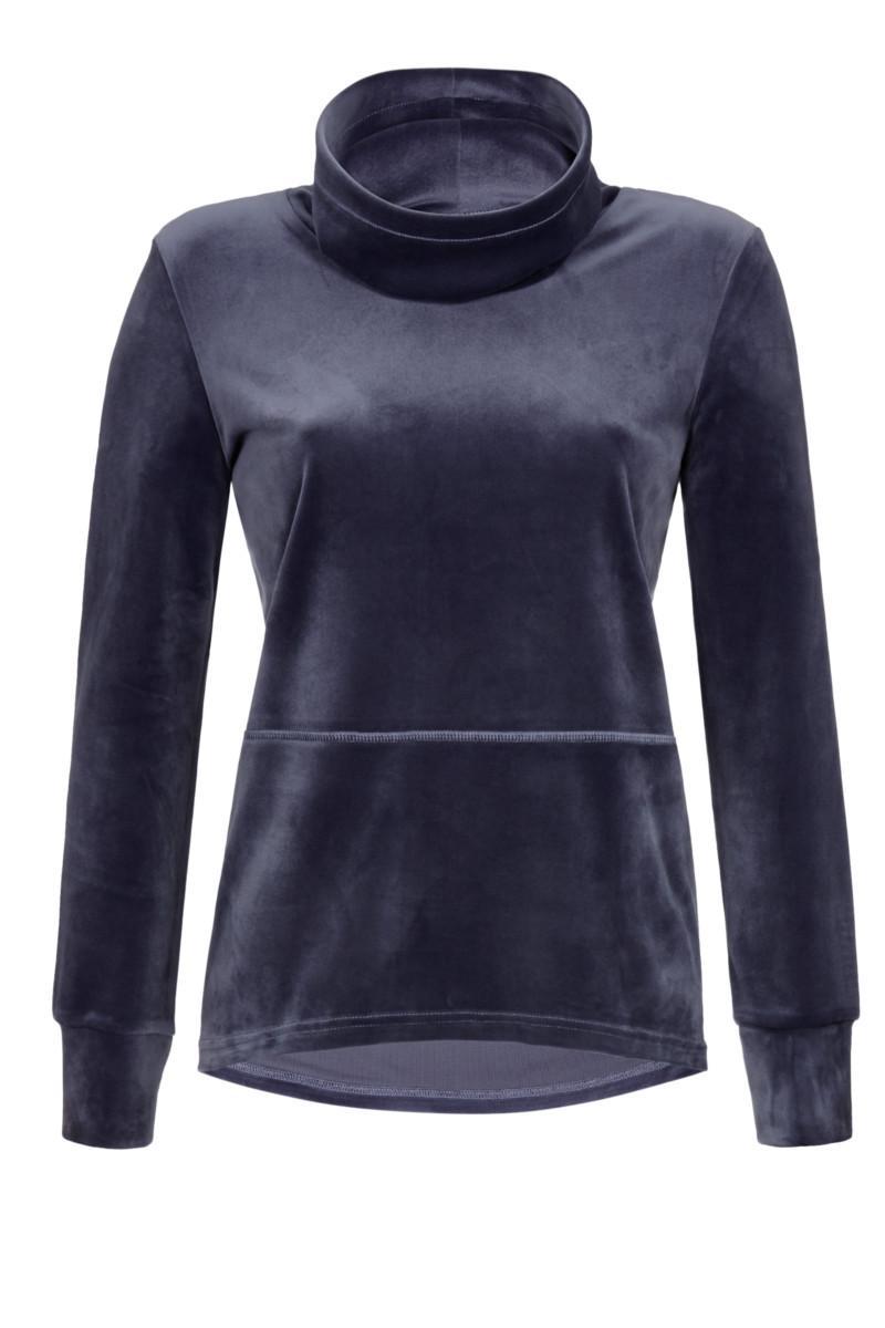 Pullover mit Stehkragen und Kordel