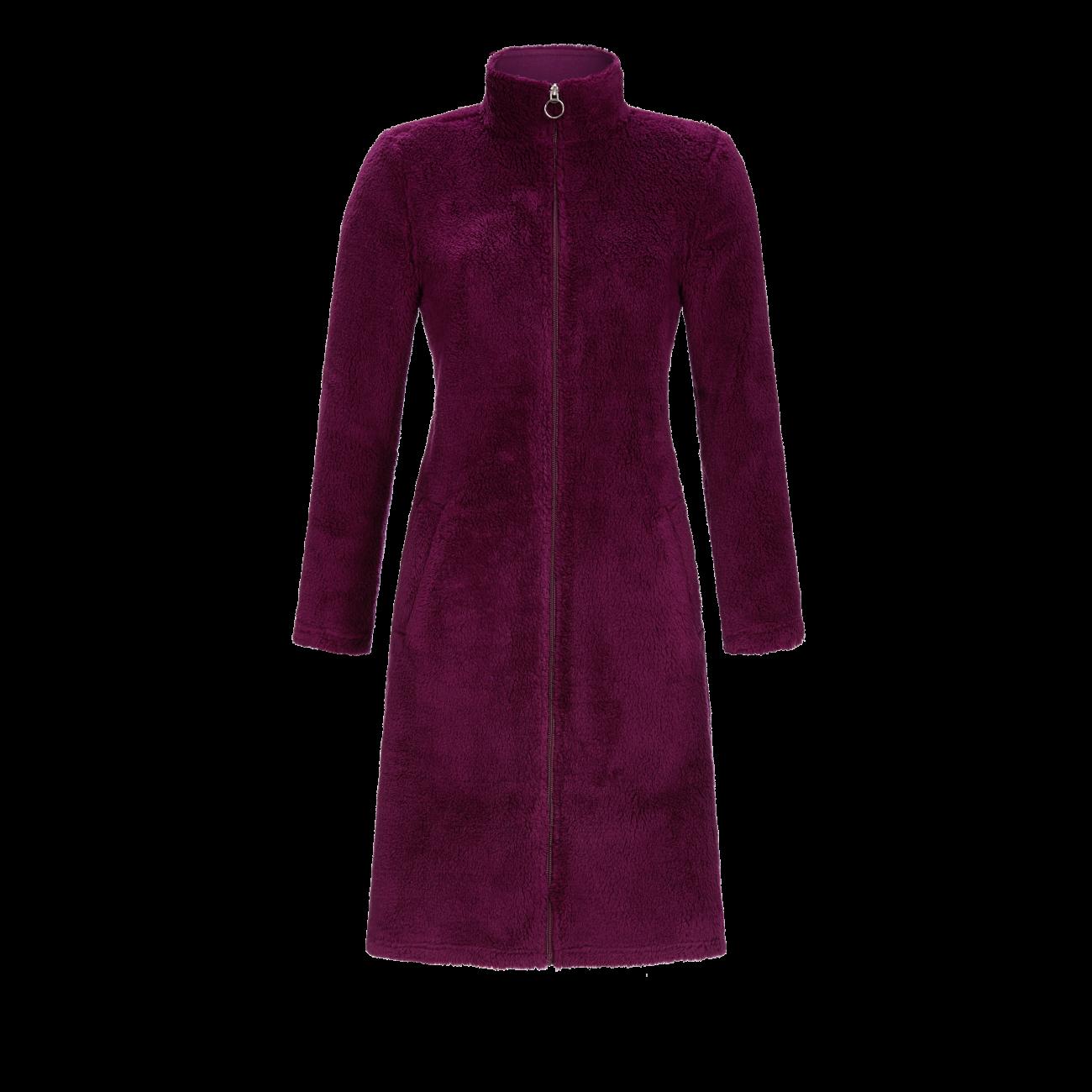 Mantel mit Reißverschluß burgund | 44