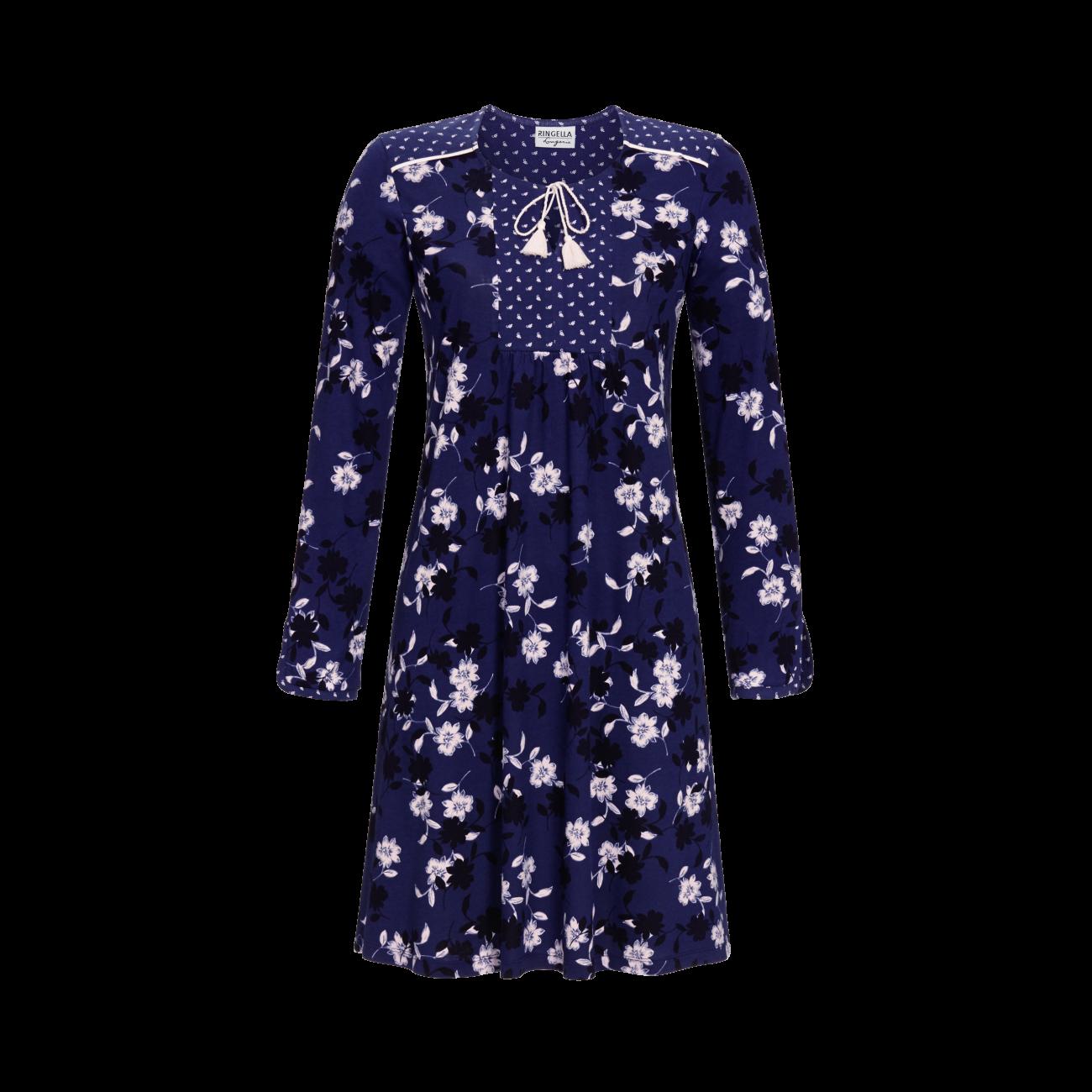 Nachthemd im Mustermix orientblau   36