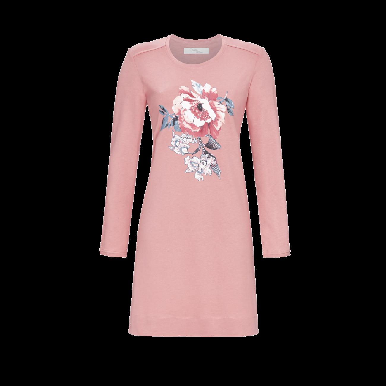 Nachthemd mit Motivdruck rosewood | 40