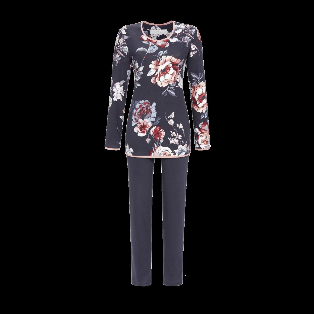 Pyjama mit Blumendessin bunt | 38