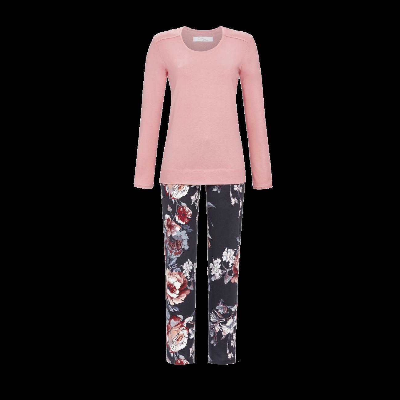 Pyjama mit Spitzenbesatz rosewood | 38