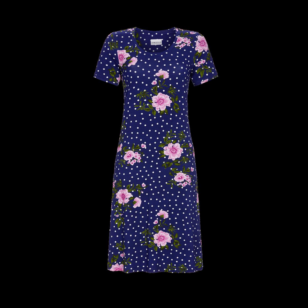 *Kleid mit Blumenmuster marine | 38