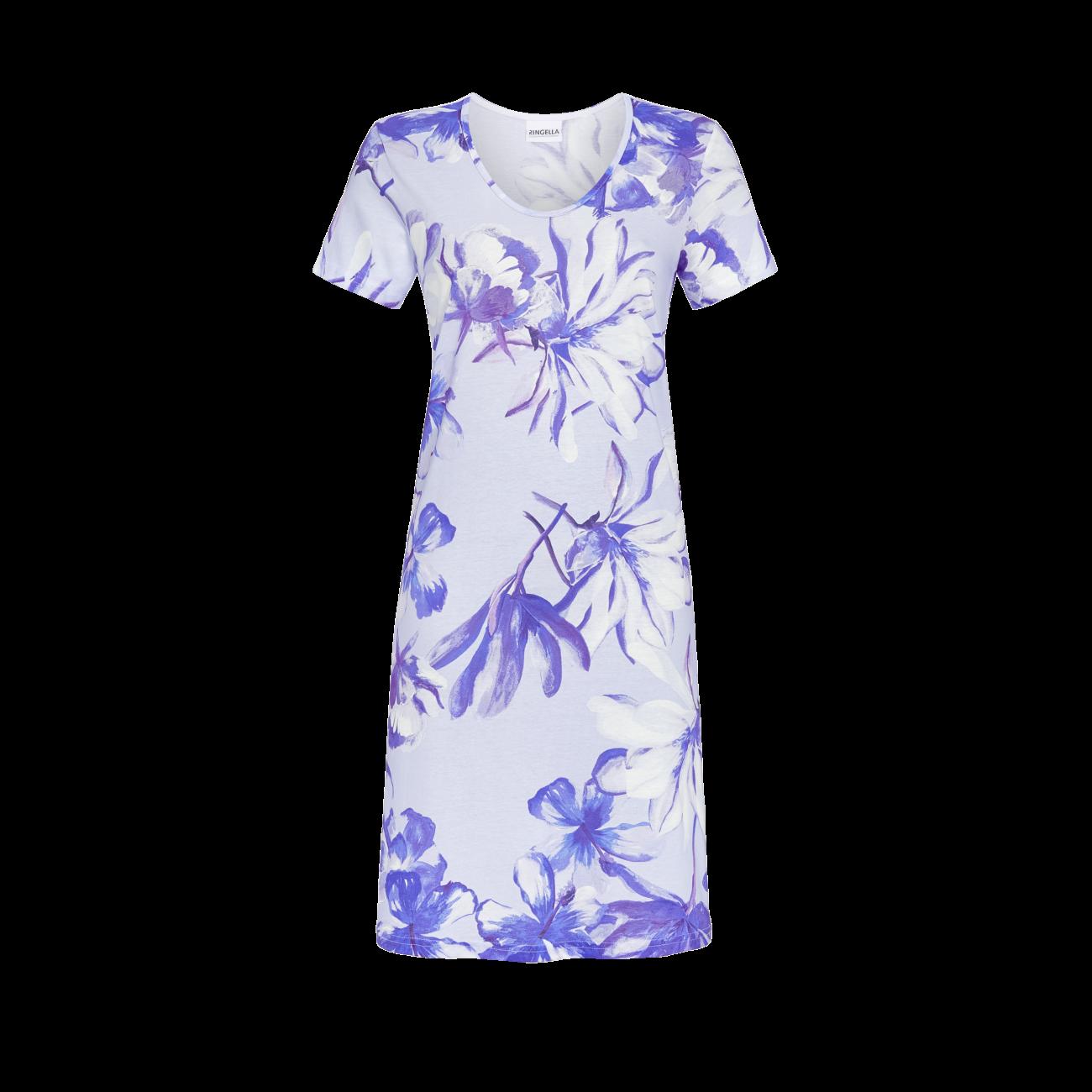 Nachthemd mit Floraldessin ciel | 42