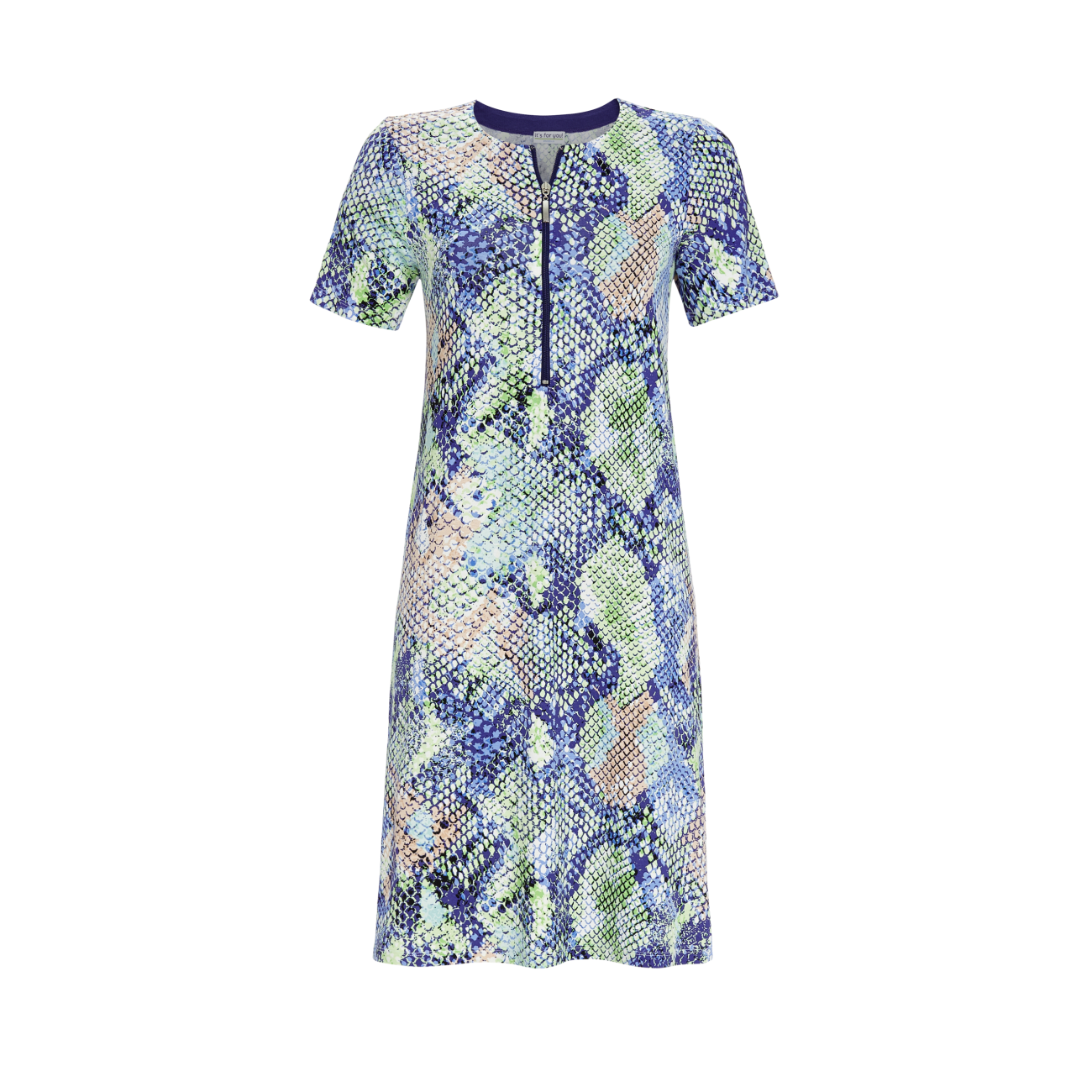 Kleid mit Reptilienprint bunt | 38
