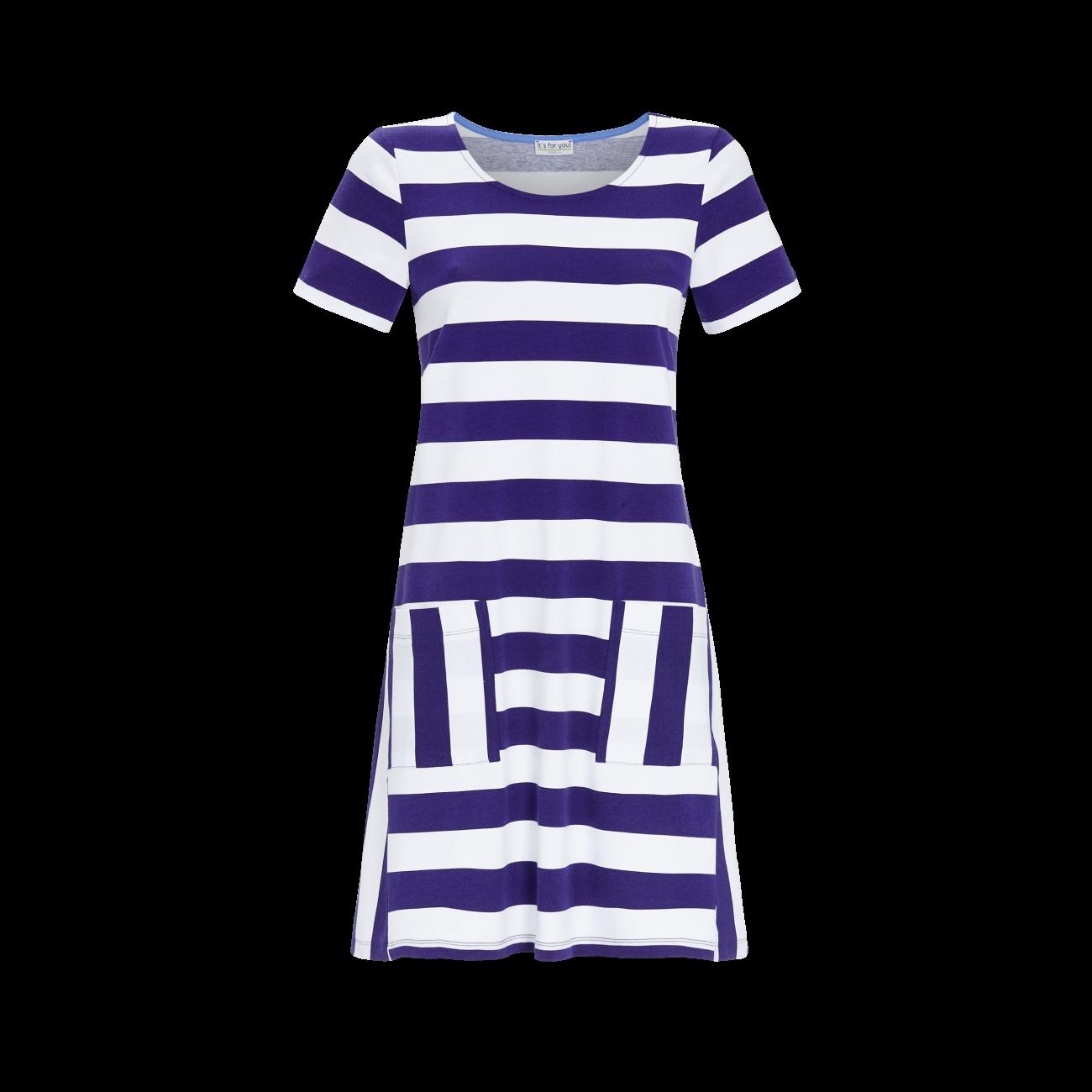 Kleid mit Blockstreifen iris | 36