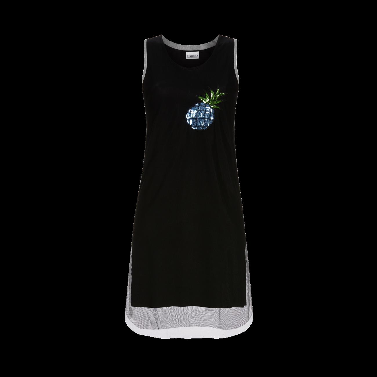 Kleid mit Pailletten-Motiv schwarz | 40