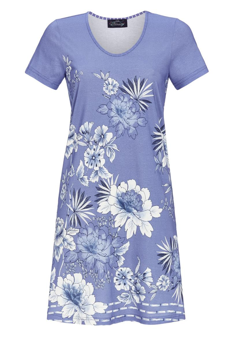 Nachthemd mit Blumendruck