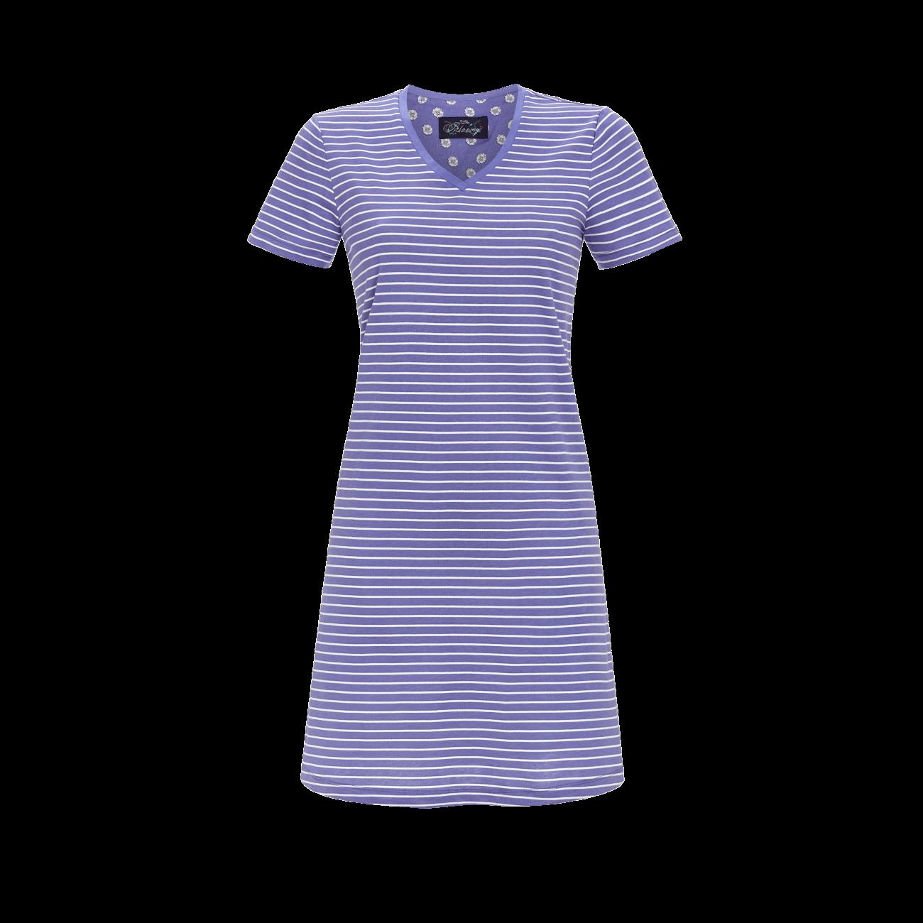 Nachthemd mit V-Ausschnitt light denim   42