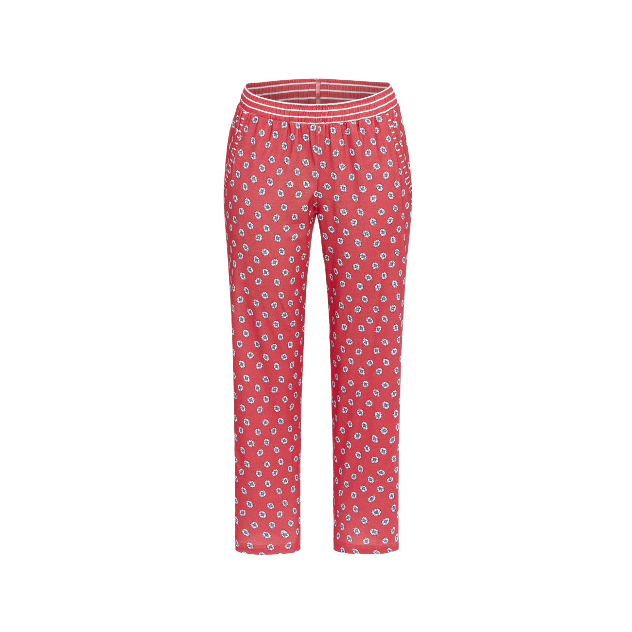 7/8 Hose mit kleinem Blumendessin summer red | 52