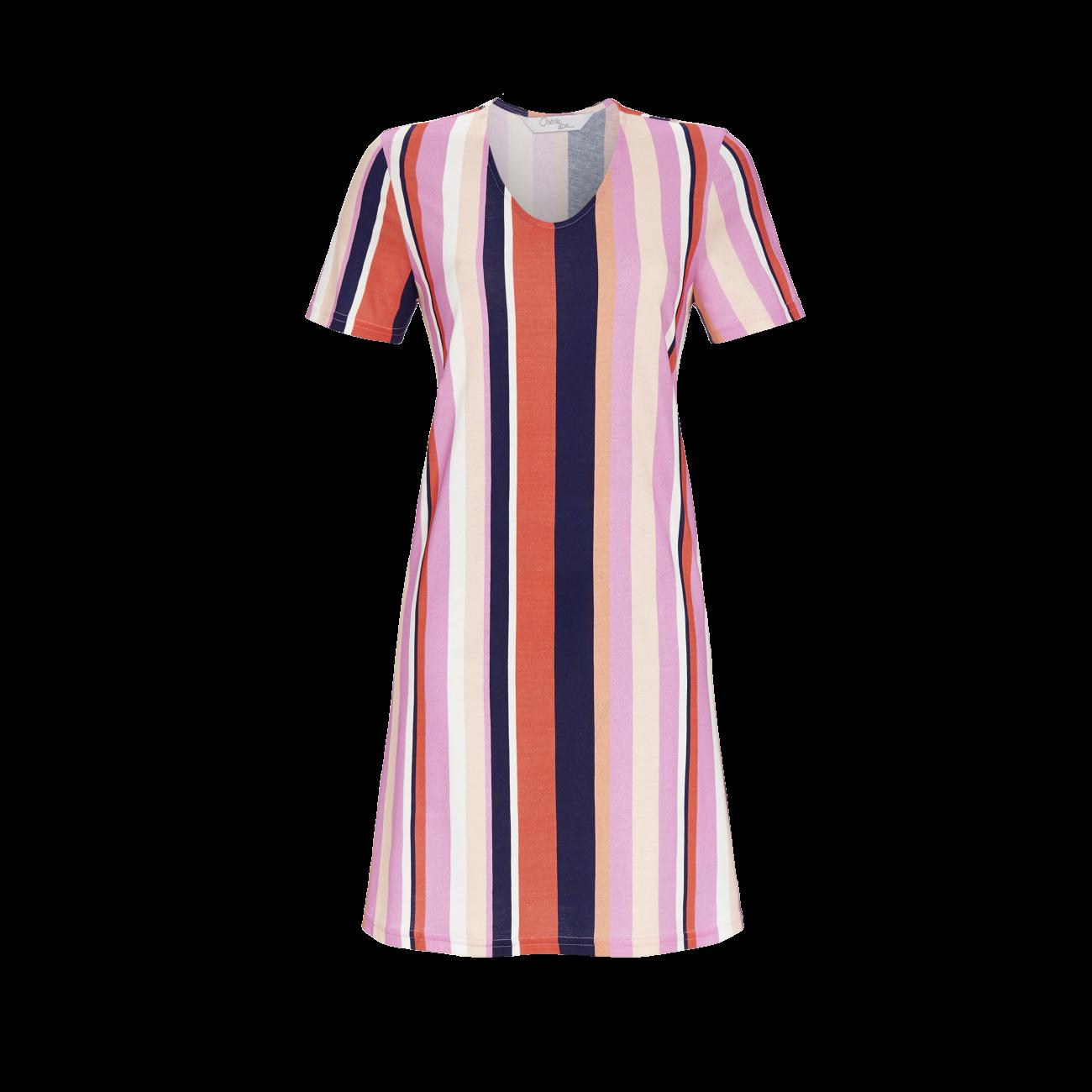 *Nachthemd mit Rundhalsausschnitt bunt | 42