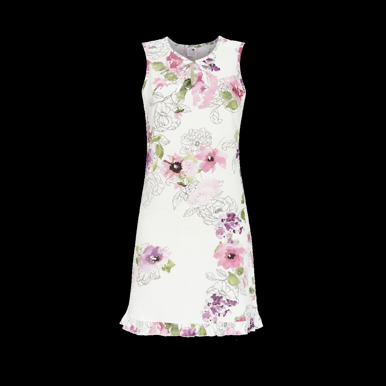*Nachthemd mit Blumendessin bunt | 38