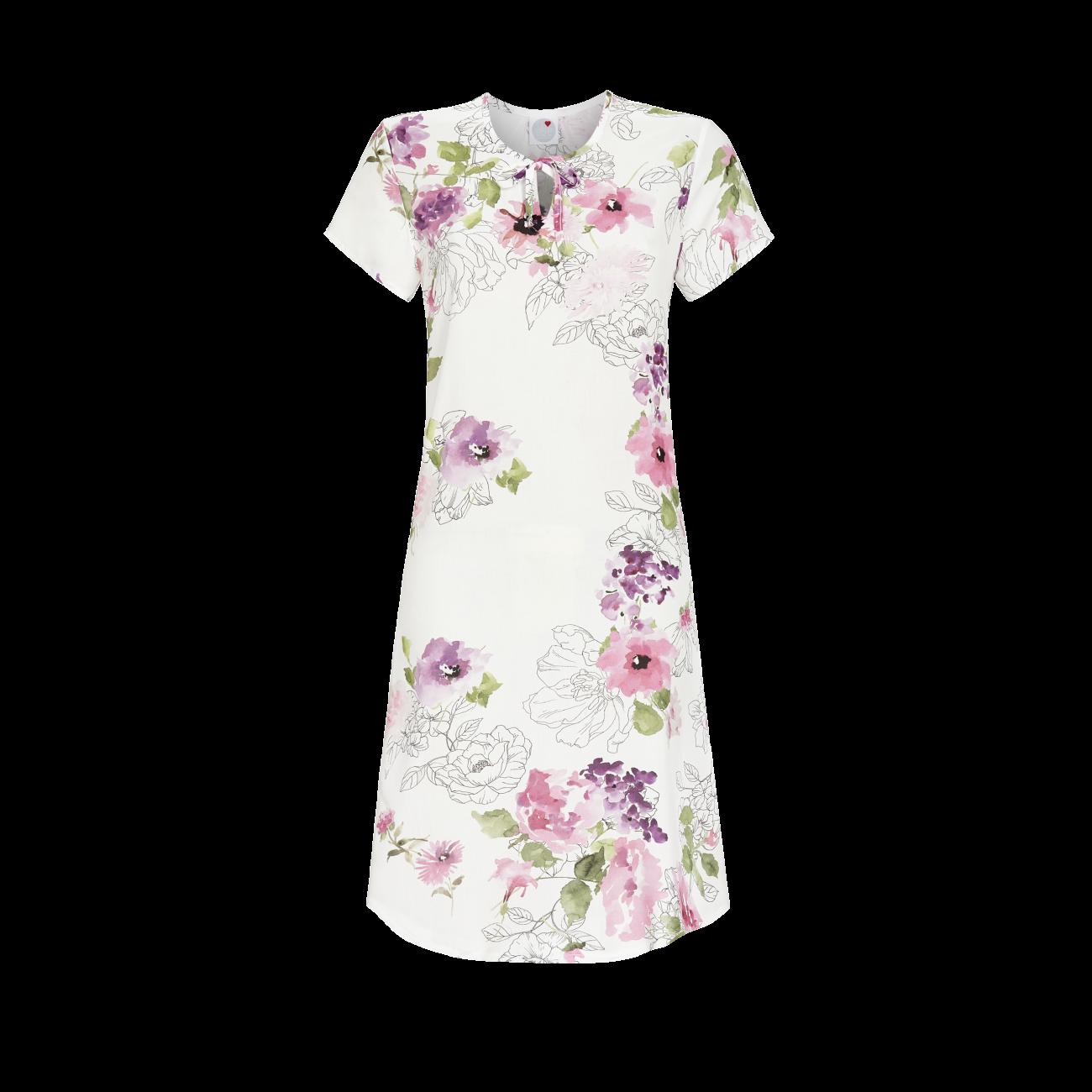 *Nachthemd mit Blumendessin bunt | 40