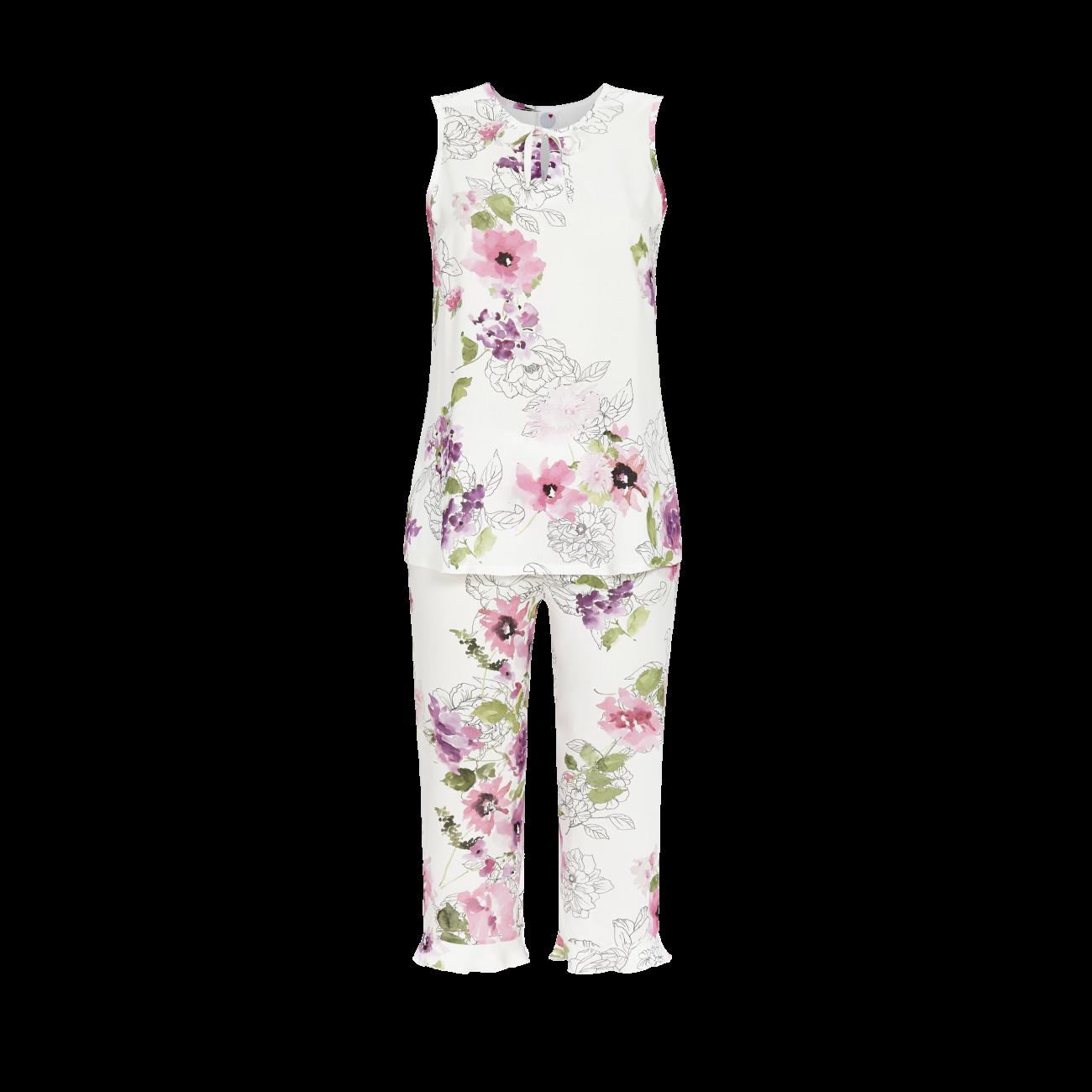 *Pyjama mit Caprihose bunt | 38