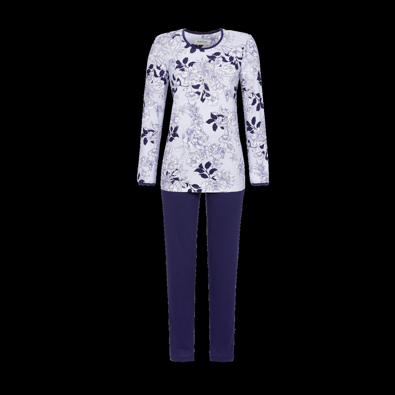 Pyjama mit geblümtem Oberteil bleu | 36