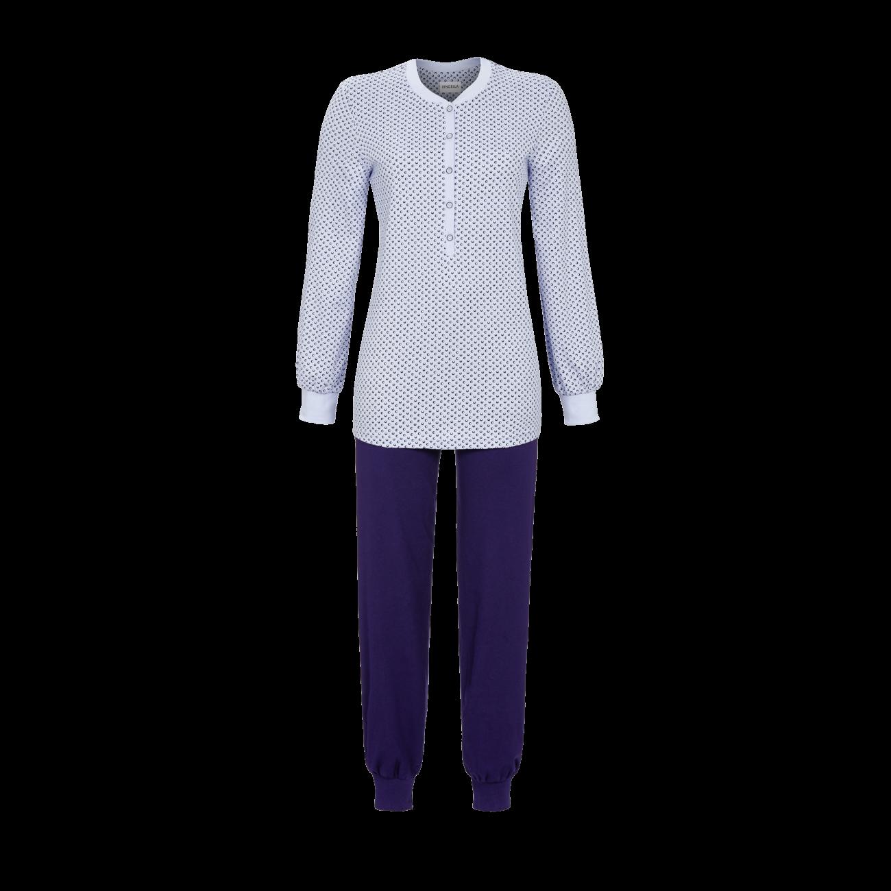 Pyjama mit Bündchen bleu | 36