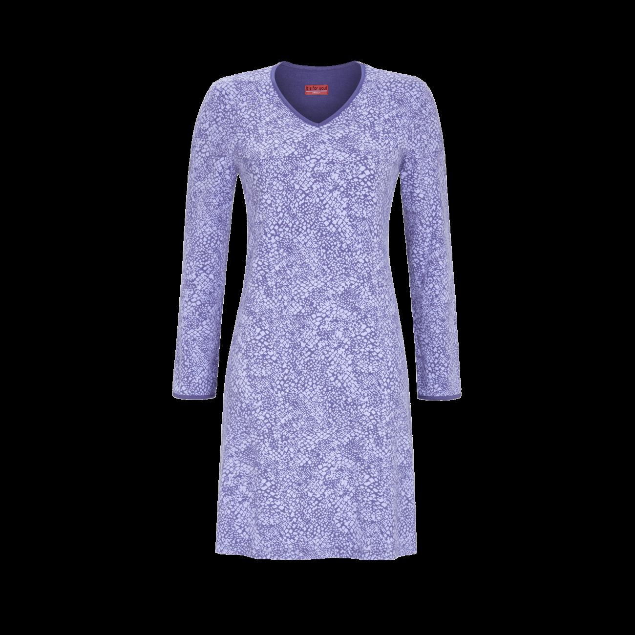 Nachthemd mit V-Ausschnitt grey-blue   38